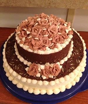 Chocolate lace cake. - Cake by Samantha Corey