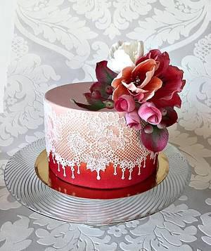 For grandma - Cake by Frufi