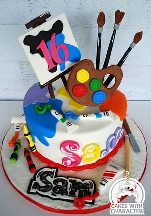 Art Themed Sweet 16 cake - Cake by Jean A. Schapowal