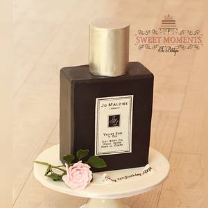 Jo Malone Bottle shaped cake  - Cake by Sweet Moments The Boutique