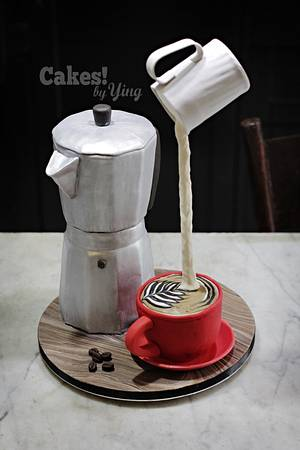 Coffee Afficionado's cake - Cake by Cakes! by Ying