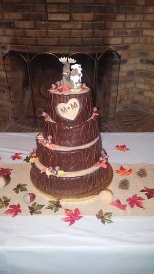 Tree trunk wedding cake - Cake by m1bame