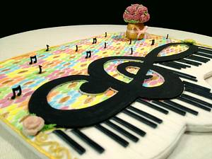 🎵Dancing notes on a piano 🎹 - Cake by My Sweet World_Elena