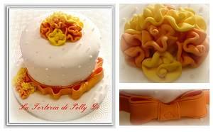 Le rose di stoffa. - Cake by La Torteria di Polly Dì