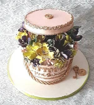 FLOWER BOX CAKE - Cake by Fées Maison (AHMADI)