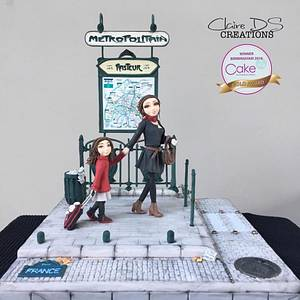 The Way to school for cake international birmingham - Cake by Claire DS CREATIONS
