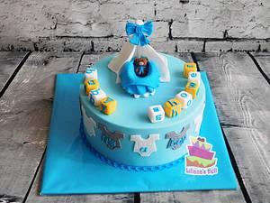 Baby shower cake - Cake by Liliana Vega