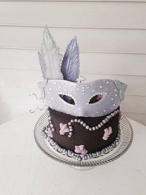 Mask Cake - Cake by Kathryn