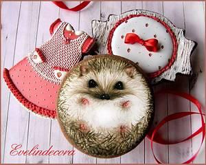 Fall cookies: hedgehog - Cake by Evelindecora