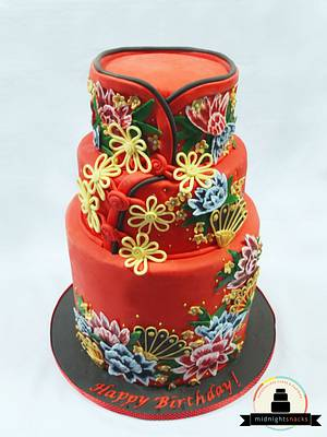 Cheongsam Birthday Cake - Cake by Larisse Espinueva