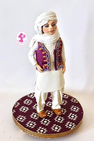 Pakistani Boy - Spectacular Pakistan Collaboration  - Cake by Seema Tyagi
