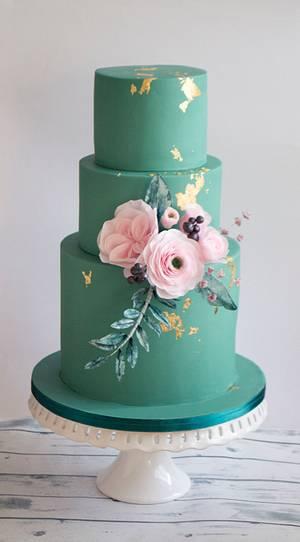 Wedding cake in eucalyptus - Cake by Vanilla & Me