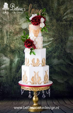 Baroque style wedding cake - Cake by Bellaria Cake Design