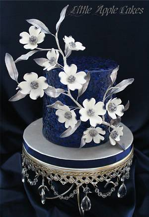 New Years inspired dogwood cake - Cake by Little Apple Cakes