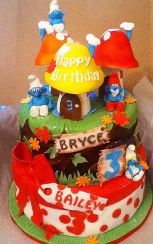Smurf cake! - Cake by frostingbakery