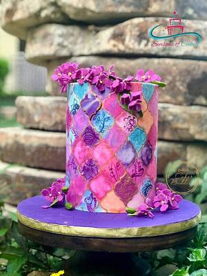Cakerbuddies collaboration Ultraviolet - Purple Heaven  - Cake by SeasonsofCakes