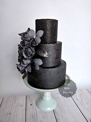 Midnight Beauty - 50 Cakes of Grey Collaboration - Cake by Nom Nom Sweeties