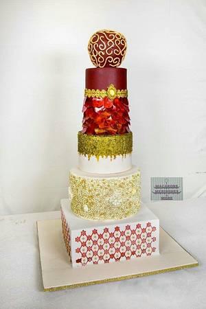 MARSALA ELEGANCE - Cake by RupalsCakes (MACARONS MERINGUES &MORE )
