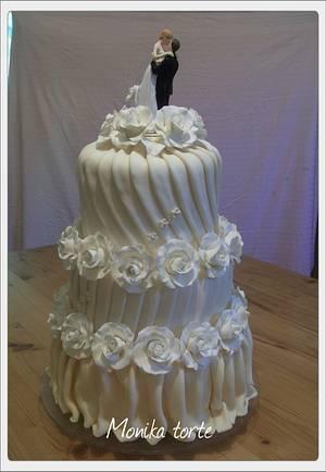 Sarlot wedding cake - Cake by Mihic Monika