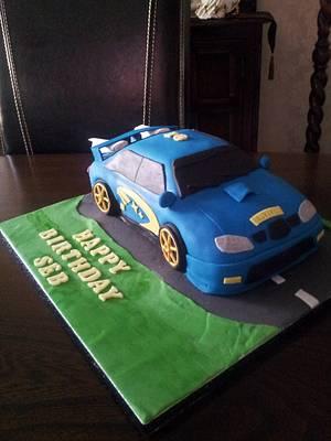 subaru cake - Cake by Sharonscakecreations
