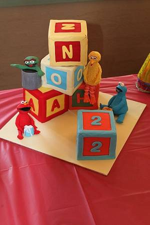 Sesame street cake for Noah's 2nd birthday - Cake by At Piece