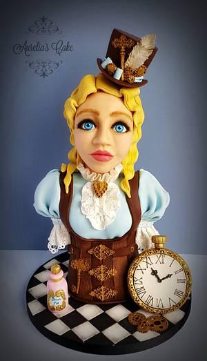 Steampunk Alice - Steampunk collaboration - Cake by Aurelia's Cake
