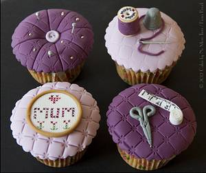 """""""Sewing Bee"""" cupcakes for Mother's Day - Cake by Cakes By No More Tiers (Fiona Brook)"""