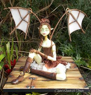 Steampunk fairy - Cake by clairessweets