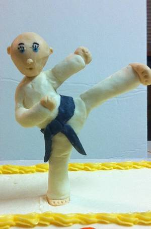Martial arts grand opening.  - Cake by sevenheavenlysweets