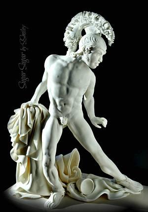 Achilles - Greco Roman Statue Challenge - Cake by Sandra Smiley