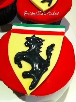Ferrari themed cupcakes - Cake by Priscilla's Cakes
