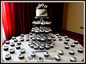 Black and white wedding - Cake by Lior's Cake Designs