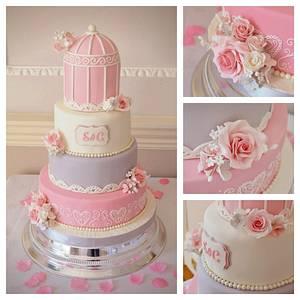 Birdcage wedding cake  - Cake by Rebecca Grace