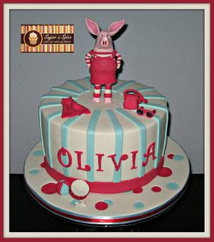 Olivia Pig Cake - Cake by Sugar & Spice Cake Shop