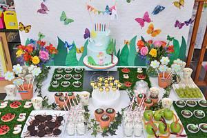 Garden birthday dessert table - Cake by Mrs Robinson's Cakes