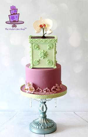Life & Hope - ORCHID in a Planter Birthday Cake - Cake by Violet - The Violet Cake Shop™
