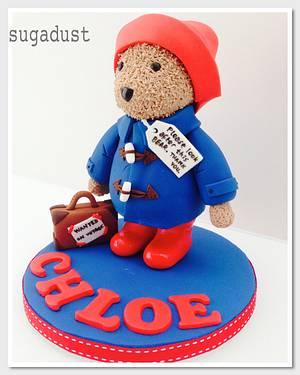 Paddington Bear Cake Topper - Cake by Mary @ SugaDust
