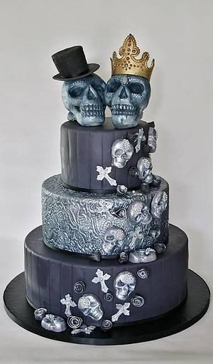 Scull wedding cake - Cake by Sannas tårtor