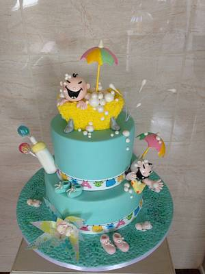 Baby shower cake - Cake by Noreen Edwards