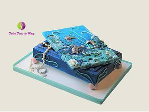 Jewerly Chest of the Sea - Cake by Maty Sweet's Designs