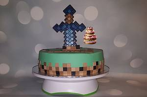 Minecraft - Cake by Pluympjescake
