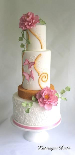 Butterflies - Cake by Lovely Sugar Art by Katarzyna Duda
