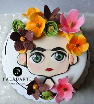 Blonde Frida Kahlo - Cake by Paladarte El Salvador