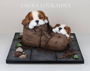 Charlie and Oscar - Cake by Laura Loukaides