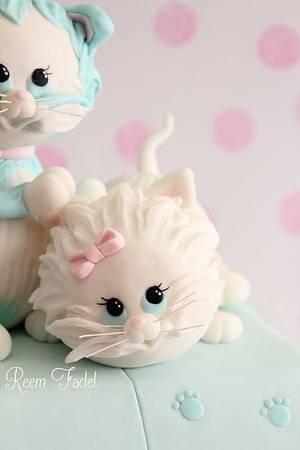 Little Kittens - Cake by ReemFadelCakes