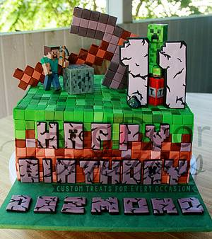 Minecraft Cake - Cake by Alicea Norman