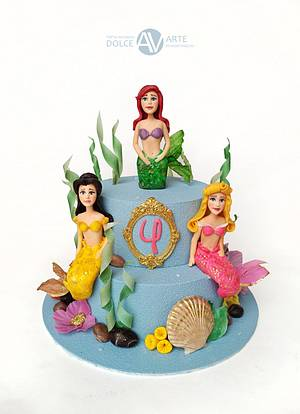 Mermaid Princesses cake - Cake by Alina Vaganova
