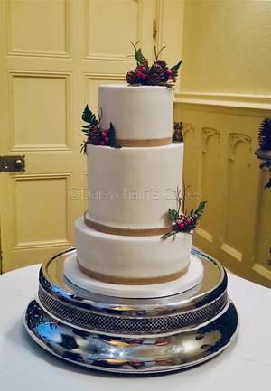 Hidden scene wedding cake - Cake by Daisychain's Cakes