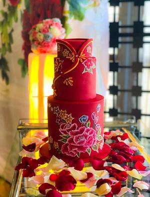 Oriental Wedding Cake - Cake by The Quirky Taste