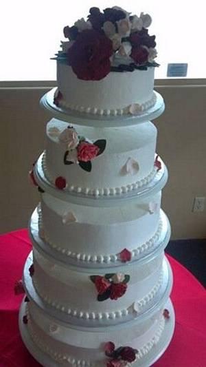 Red Rose Wedding cake - Cake by GABRIELA AGUILAR